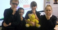 Pudsey Bear proves silence is golden image