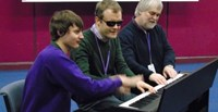 Music for Autism have an amazing keyboard session with our young people at The Forum School