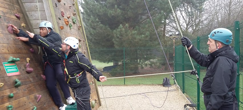 Bletchley Park take on rock climbing image