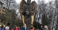 Scarborough's Visit to the 'Knife Angel' image