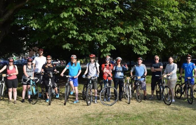 Grateley House Schools charity bike ride from London to Brighton