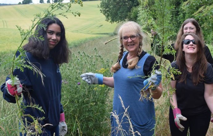 Grateley House School student council do their bit for the environment